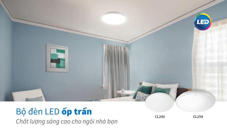 Đèn ốp trần LED Philips CL254 EC RD 12W HV 02 LED CEILING