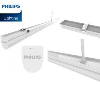 Bộ máng đèn LED Batten T8 Philips BN012C LED10/WW L600 TH G2,  0.6m