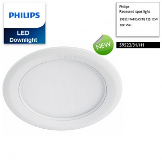 Đèn downlight âm trần LED Philips MARCASITE 59522 Φ125 12W 65K WH recessed