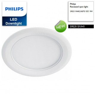 Đèn downlight âm trần Led Philips 9W Marcasite 59521 6500K